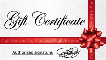 Gift Certificates for Students, the Elderly, New Moms, or Birthdays